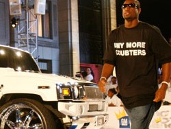 Dwayne Wade walks the runway at GM's 3rd Annual All-Car Showdown