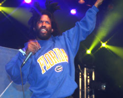 Murs on the stage at Saturday's Paid Dues (Photo: BallerStatus.com / Dave Goodson)
