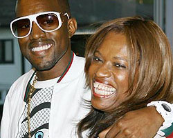 Kanye West with his mother Donda West