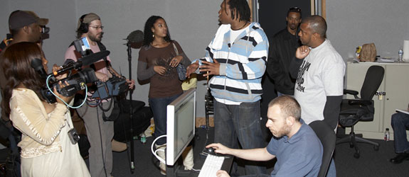 KRS-One in the studio working - LA Recording School
