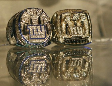 New York Giants Super Bowl rings