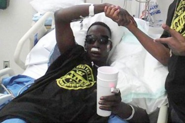 Crunchy Black shot and recovering