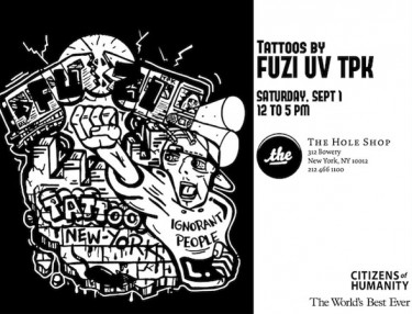 FUZI UV TPK NYC tattoo event - September 1st