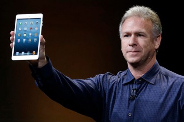 Phil Schiller, Apple's senior vice president of marketing, unveils the iPad Mini