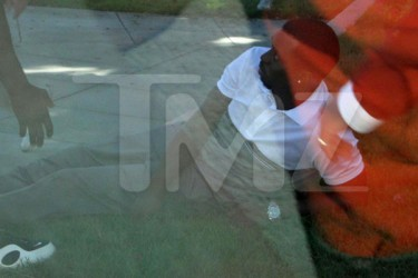Diddy after his SUV crash in L.A.