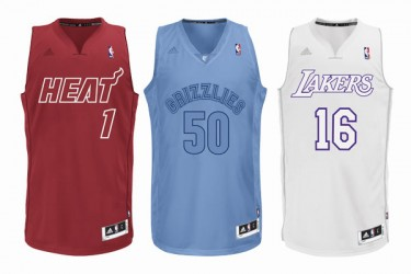 NBA 2012 BIG Color Adidas Christmas Day uniforms