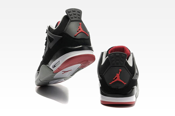 The Air Jordan 4 Black/Cement Grey-Fire Red