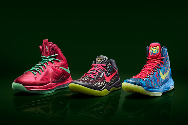 Nike Basketball Christmas Colorways