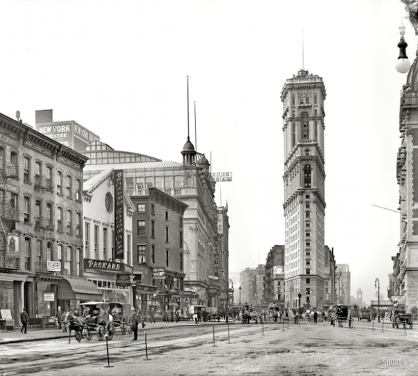 Times Square in 1904, via Shorpy