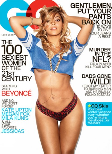 Beyonce on cover of February 2013 GQ issue.