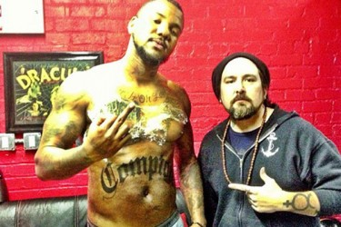 The Game and tattoo artist Peter Koskela