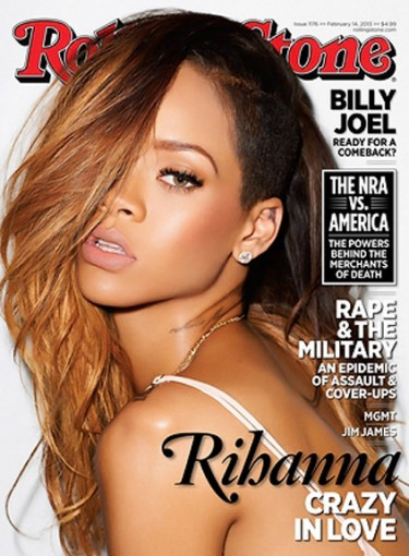Rihanna covers Rolling Stone's Feb 2013 issue.