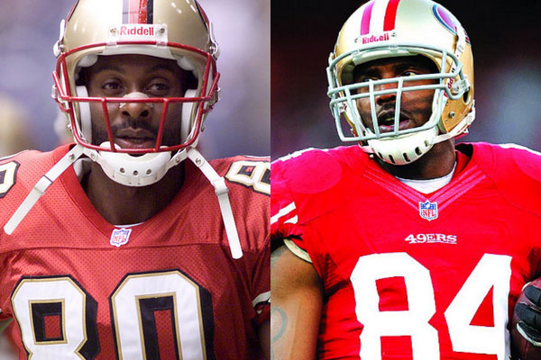 Jerry Rice and Randy Moss