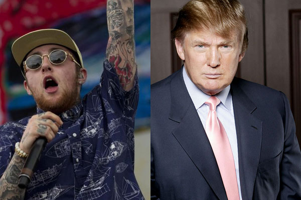 Mac Miller and Donald Trump