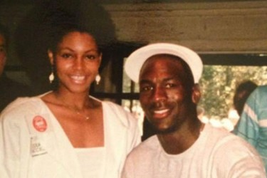 Pamela Smith and Michael Jordan in the 1990s