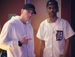 Big Sean in the studio with Eminem