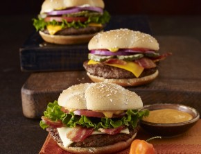 McDonald's Quarter Pounders - Bacon and Cheese, Deluxe, and Habanero Ranch.