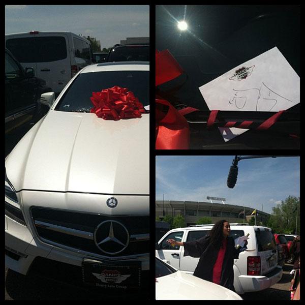 Roc Nation gets Skylar Diggins a new Mercedes for graduating from Norte Dame.