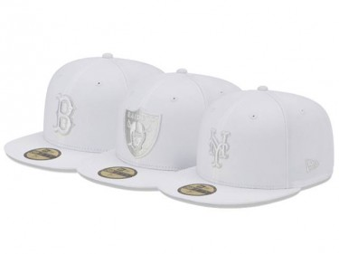 New Era White Gray Basic 59FIFTY collection