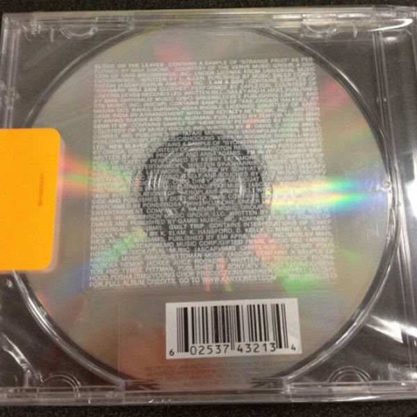 Kanye West - Yeezus (back cover)