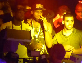 Miami Heat Eat Pizza, Pop Bottles With Drake To Celebrate Championship