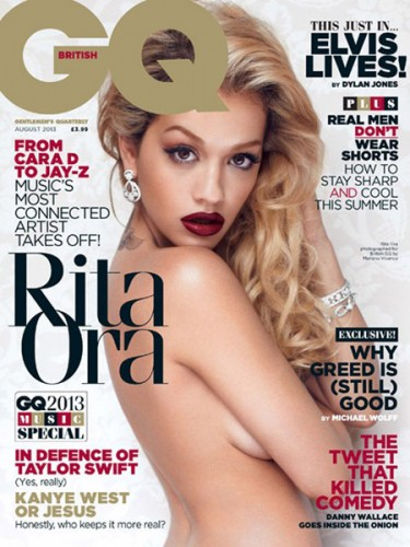 Rita Ora covers British edition of GQ for August 2013 issue.