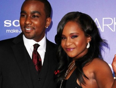 Bobbi Kristina and stepbrother Nick Gordan