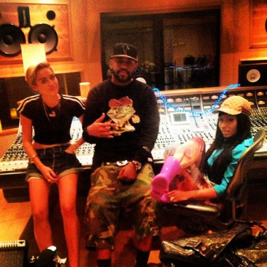 Miley Cyrus, Mike Will Made It and Nicki Minaj
