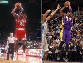 kobe bryant vs michael jordan identical plays video. Black Bedroom Furniture Sets. Home Design Ideas