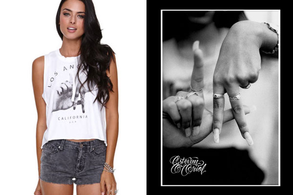 Estevan Oriol vs Brandy Melville - L.A. Hands T-Shirt