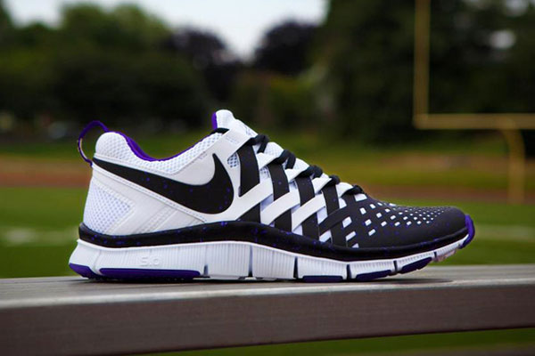 nike free trainer 5.0 nfl black\/white-electro purple rain