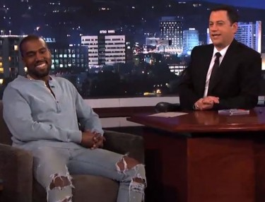 Kanye West Hashes Things Out With Jimmy Kimmel