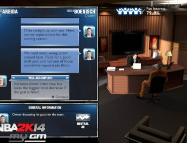 NBA 2K14 myGM mode - next-gen