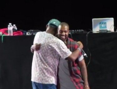 Kanye West Makes Surprise Appearance At OFWGKTA Carnival
