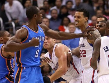 Serge Ibaka and Matt Barnes