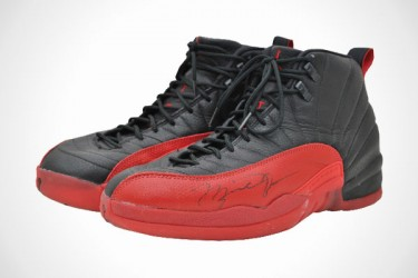 Jordan 12 flu game shoes auction