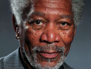 Amazing Morgan Freeman Finger Painting (iPad Art)