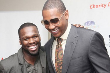 50 Cent and Carmelo Anthony
