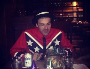 Yelawolf rocks the Confederate flag
