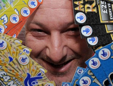 David Mannix owns world's largest lottery scratcher collection.