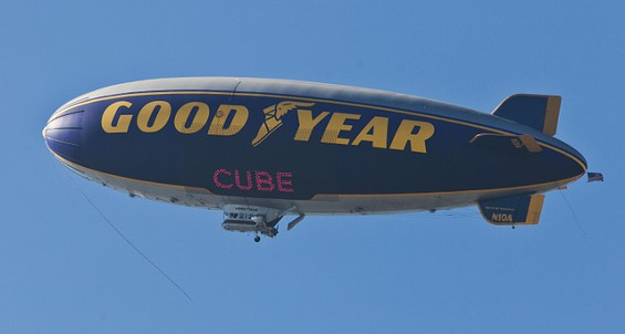 Ice Cube on the Goodyear Blimp
