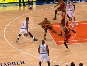 J.R. Smith Breaks Tristan Thompson's Ankles