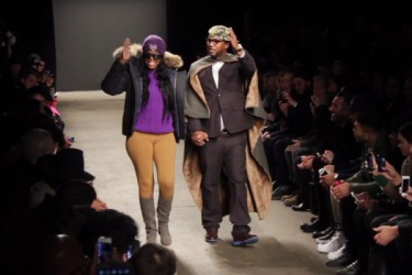 Cam'ron debuts cape line at Mark McNairy New York Fashion Week show.