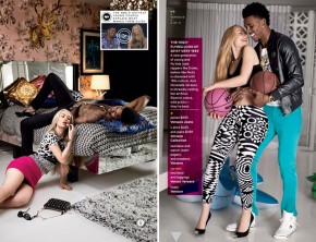 Iggy Azalea and Nick Young in GQ March 2014 issue