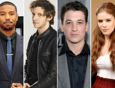 Michael B. Jordan, Jamie Bell, Miles Teller and Kate Mara - Fantastic Four