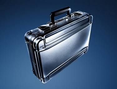 Zero Halliburton Geo Aluminum Attache Brief Case