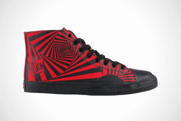 Vision Street Wear Canvas Hi Red/Black 'Hypno Print'
