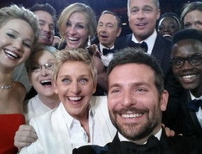 Ellen DeGeneres - Oscars selfie with Meryl Streep and other stars.