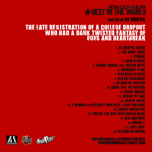 Jon Connor - The Late Registration Of A College Dropout (Mixtape) - Back
