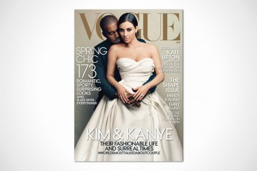 Kanye West, Kim Kardashian Vogue April 2014 Cover